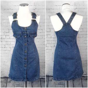 Vintage 90's Denim Dress by Speed Control Size 3-4